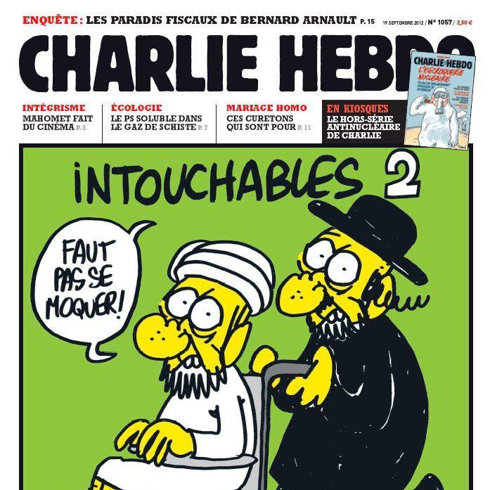 La une de charlie hebdo caricaturant le prophète de l'islam
